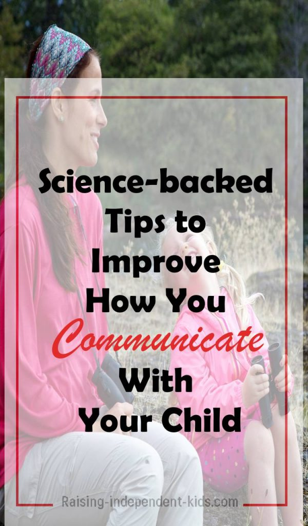 Fostering communication with your child
