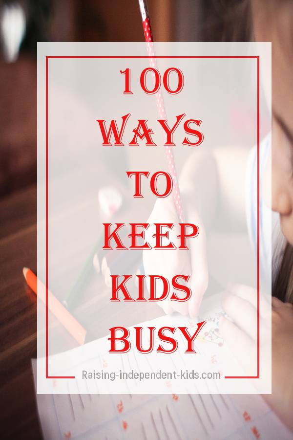 fun activities to keep your kid busy
