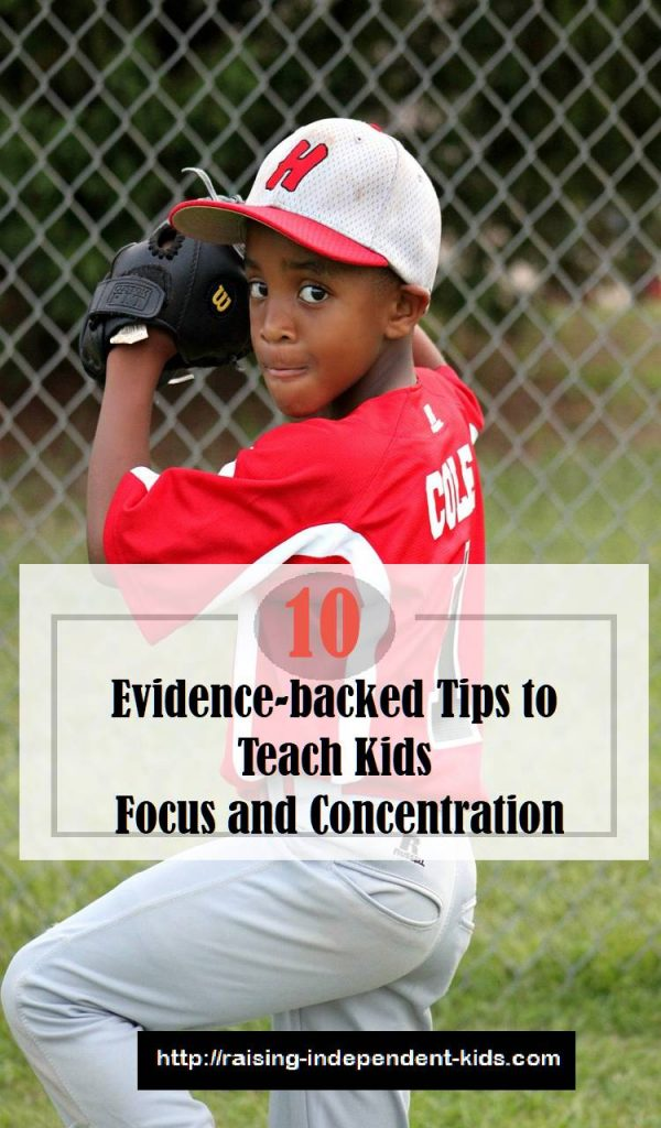 tips to teach kid to keep still and concentrate