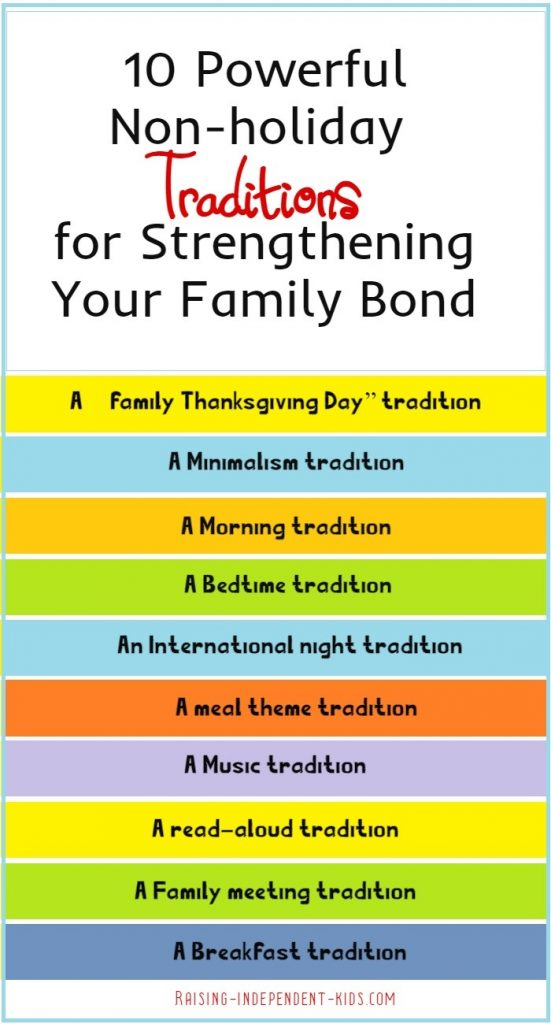 10 Powerful Non-holiday Traditions for Strengthening Your Family Bond