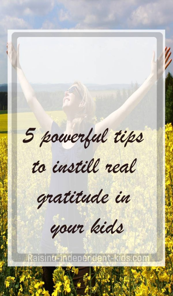 teaching gratitude to young kids