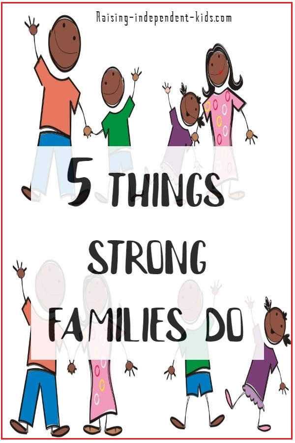 5 things strong families do