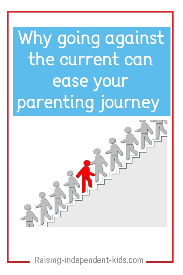 Why going against the current can ease your parenting journey