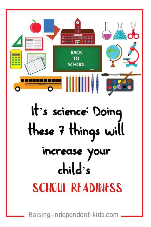 It's science: Doing these 7 things will increase your child's school readiness