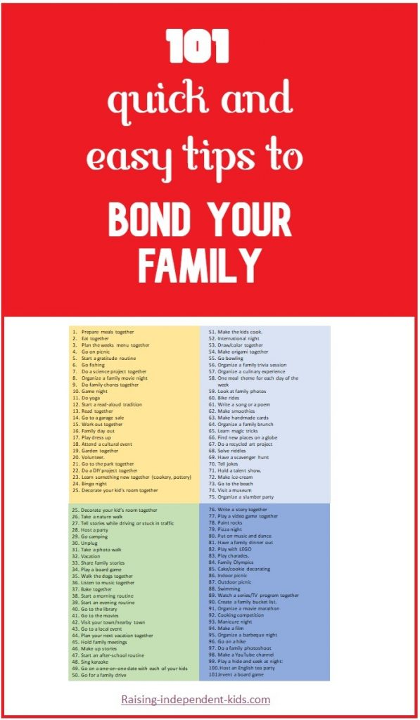 Help your family develop strong bonds with these simple tips