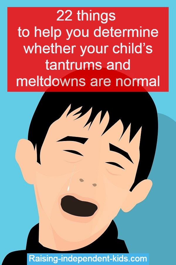 abnormal tantrum behavior in kids