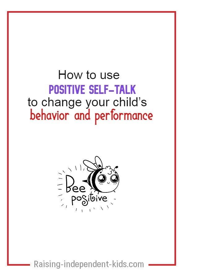 Teaching your kid to use positive self-talk