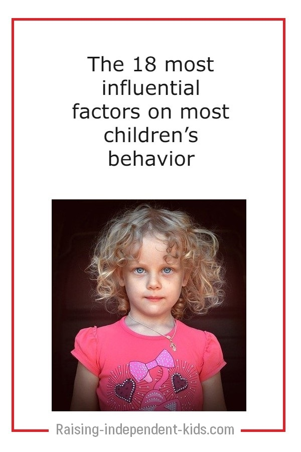 what influences children's behavior